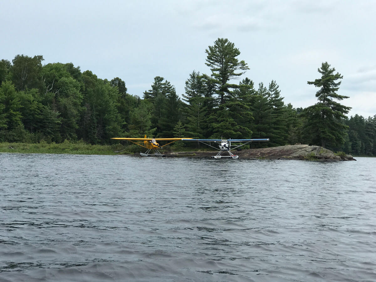 Piper Pa-12 and J3 Fly-in fishing